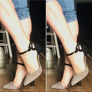Asymmetrical classy heels ankle strap NEW